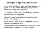 challenges of age structure transition
