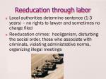 reeducation through labor