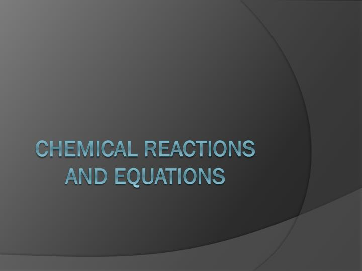 chemical reactions and equations n.