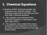 i chemical equations