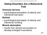 eating disorders are a behavioral trait