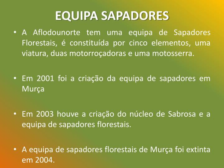 EQUIPA SAPADORES