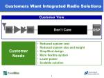 customers want integrated radio solutions
