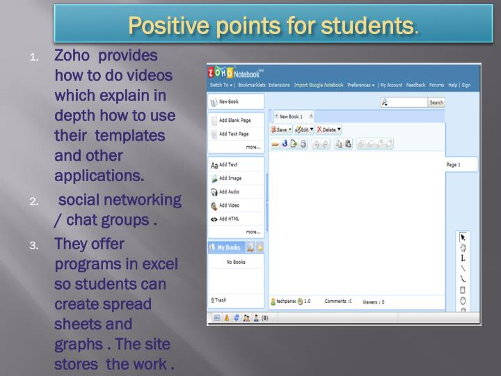 Positive points for students