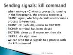 sending signals kill command