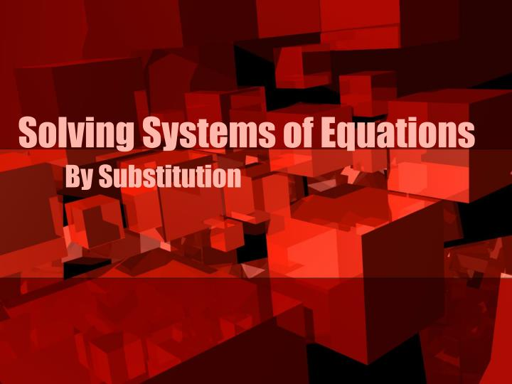 solving systems of equations n.