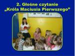 2 g o ne czytanie kr la maciusia pierwszego