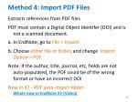 method 4 import pdf files