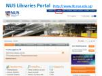 nus libraries portal http www lib nus edu sg