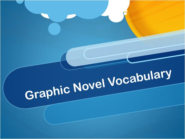 graphic novel vocabulary n.