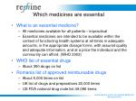 which medicines are essential