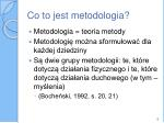 co to jest metodologia