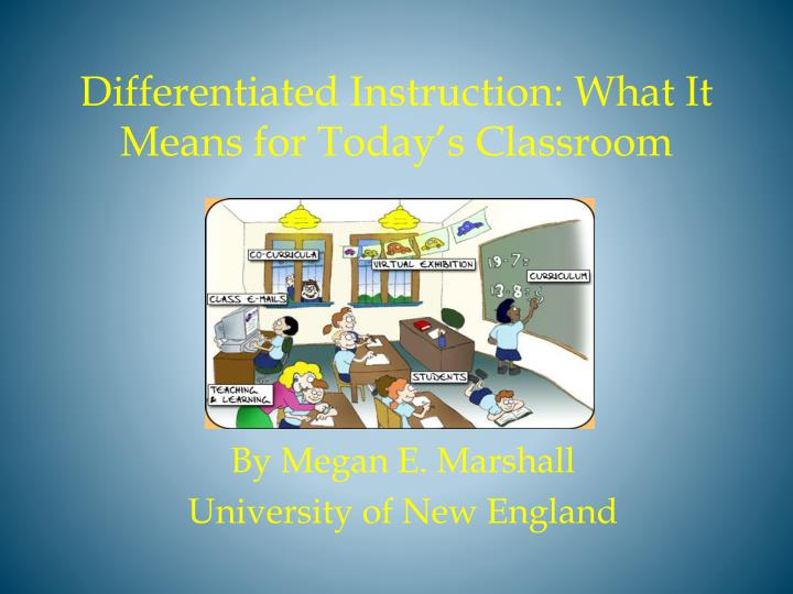 differentiated instruction what it means for today s classroom n.