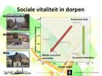 sociale vitaliteit in dorpen