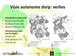 visie autonome dorp verlies