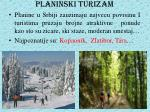 planinski turizam