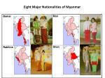 eight major nationalities of myanmar1