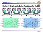 radix 2 2 single path delay feedback for n 256