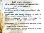 ejzf ex ante nosac jums akvakult ras daudzgadu strat iskais pl ns 2014 2020 gadam i