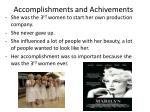 accomplishments and achivements