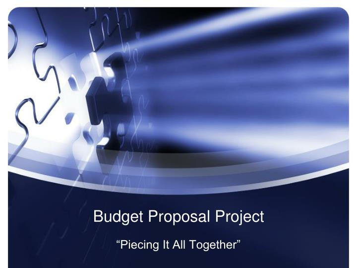 budget proposal project n.