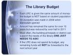 the library budget