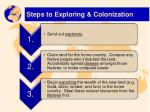 steps to exploring colonization