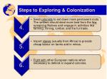 steps to exploring colonization1