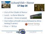 cultural visit namur 17 sep 14