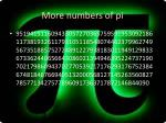 more numbers of pi