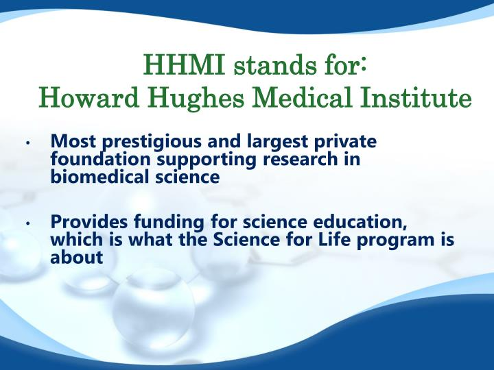 HHMI stands for: