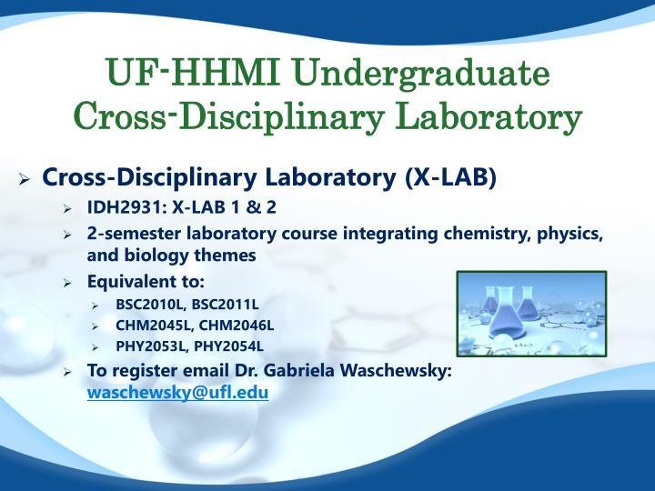 UF-HHMI Undergraduate Cross-Disciplinary