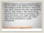 how aurora happens