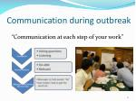 communication during outbreak