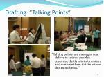 drafting talking points