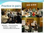 practice in pairs