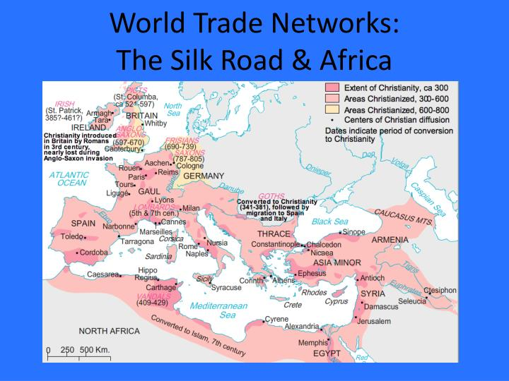 world trade networks the silk road africa n.