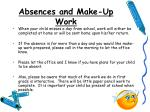 absences and make up work