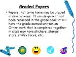 graded papers