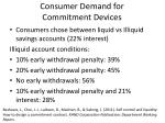 consumer demand for commitment devices