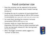 food container size