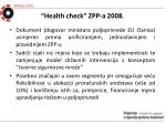 health check zpp a 2008
