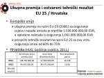 ukupna premija i ostvareni tehni ki rezultat eu 25 hrvatska