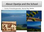 about opatija and the school
