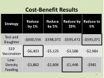 cost benefit results
