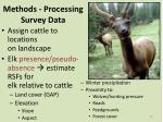 methods processing survey data