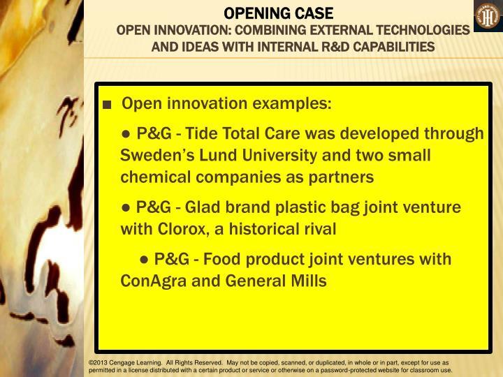 OPEN INNOVATION: COMBINING EXTERNAL TECHNOLOGIES