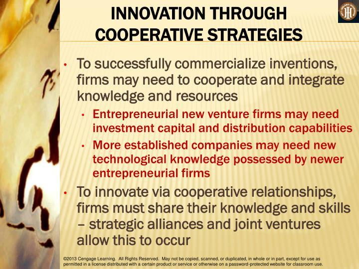 INNOVATION THROUGH COOPERATIVE STRATEGIES