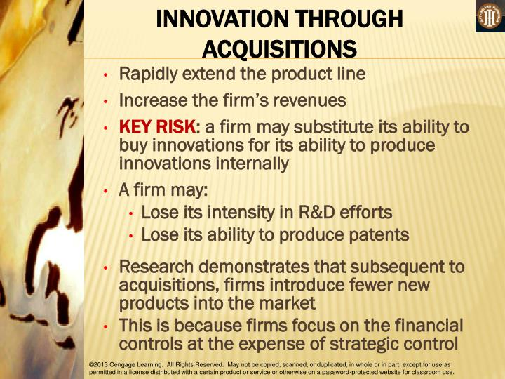 INNOVATION THROUGH ACQUISITIONS