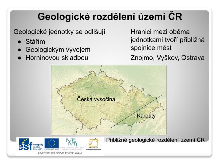 Geologické jednotky se odlišují